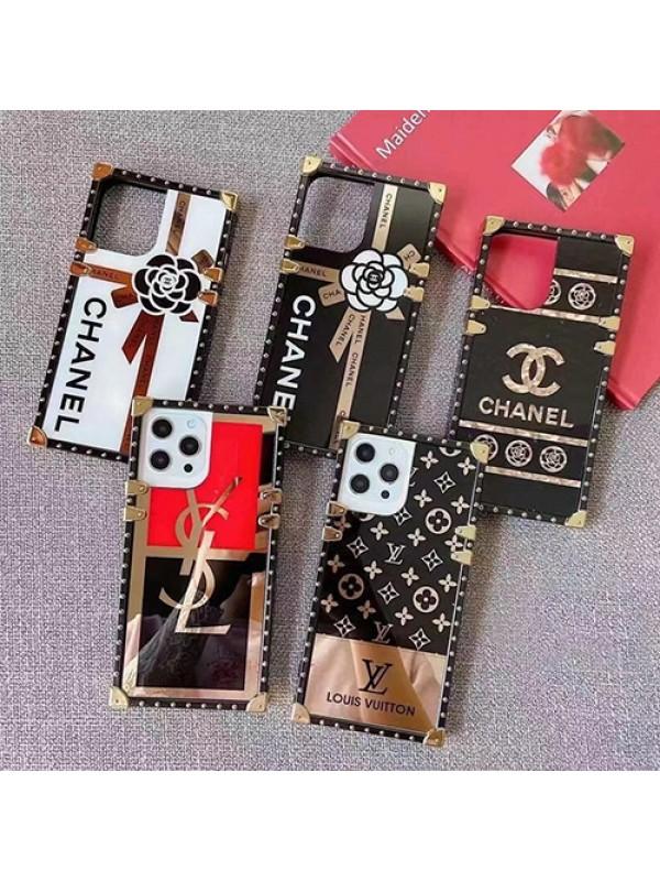 個性的 豪華 シャネル iPhone13Pro max/13Proトランクケース イブサンローラン ルイヴィトン iphone13mini/13カバー ブランド キラキラ ゴージャス iphone12Pro max/12Proケース